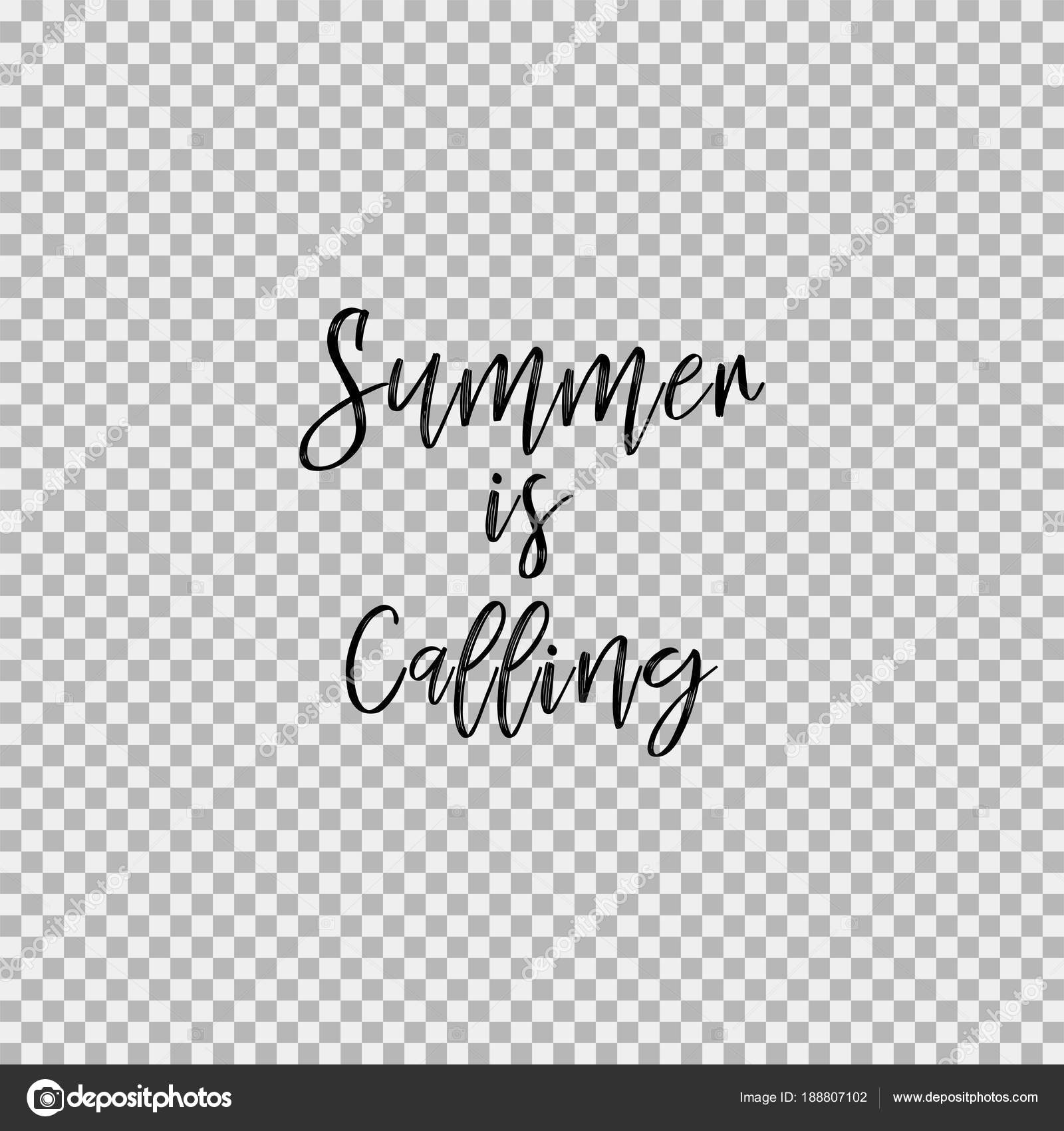 Summer is calling  Transparent background — Stock Vector