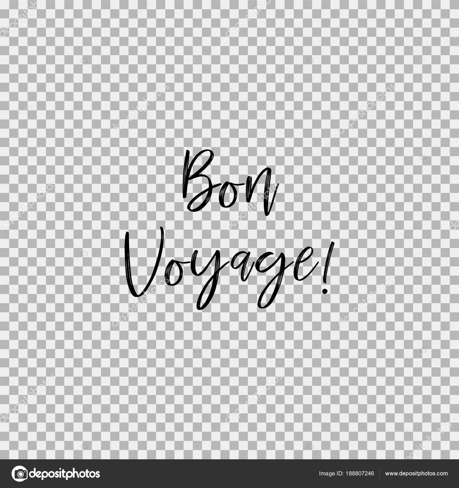 bon voyage transparent background ストックベクター marryicon