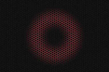 Balck hexagon background with glowing circle