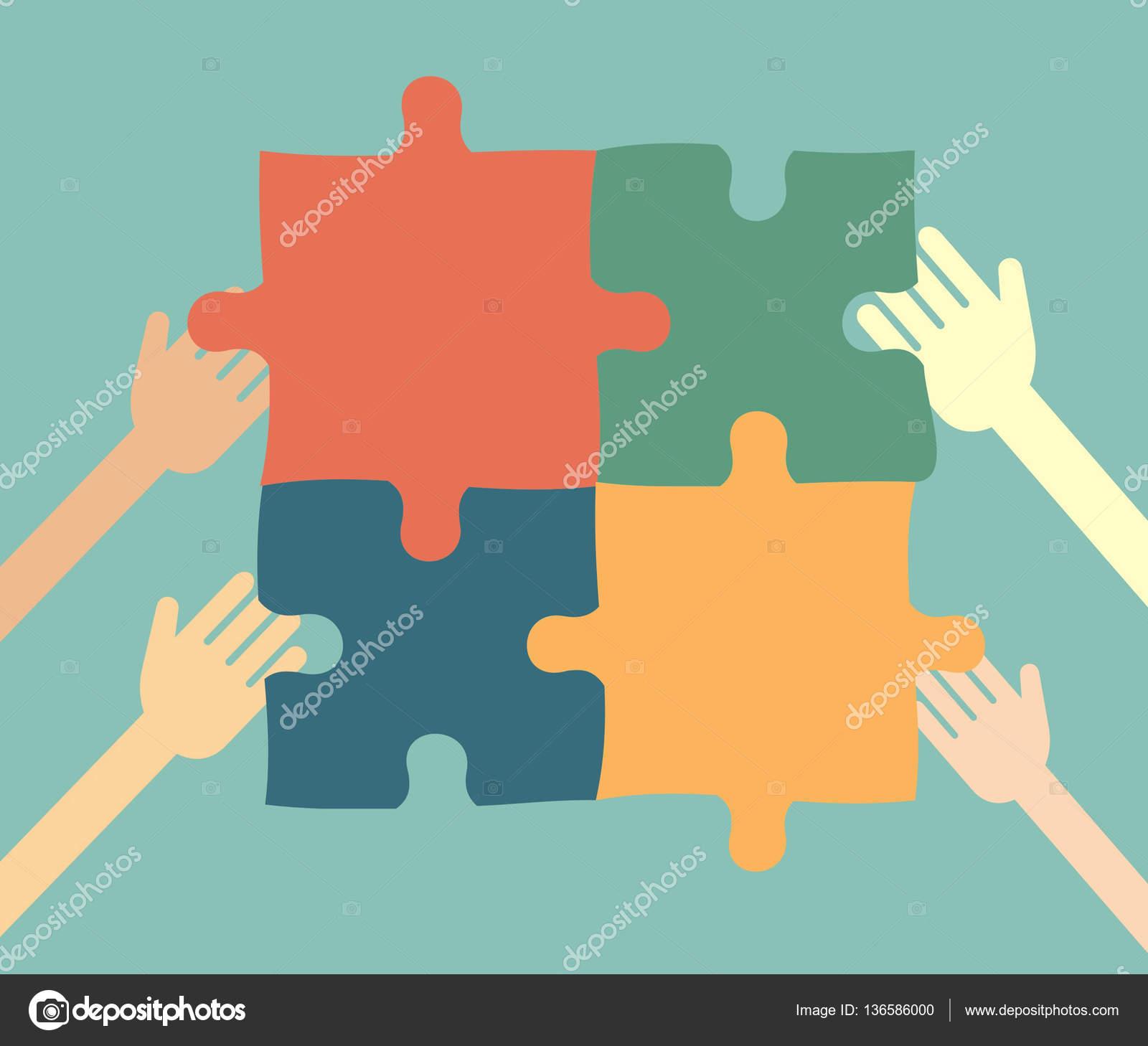 Concepto de idea las personas recoger puzzle vector de stock concepto de idea las personas recoger puzzle vector de stock gumiabroncs Images