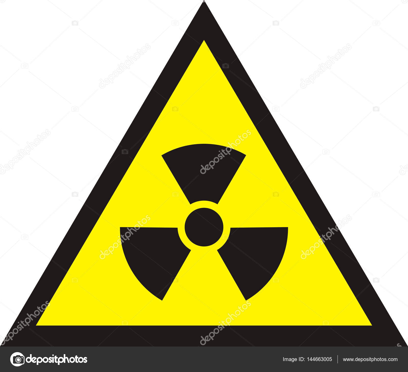 Nuclear Radiation Symbol Radioactive Sign In Yellow Colour Iso