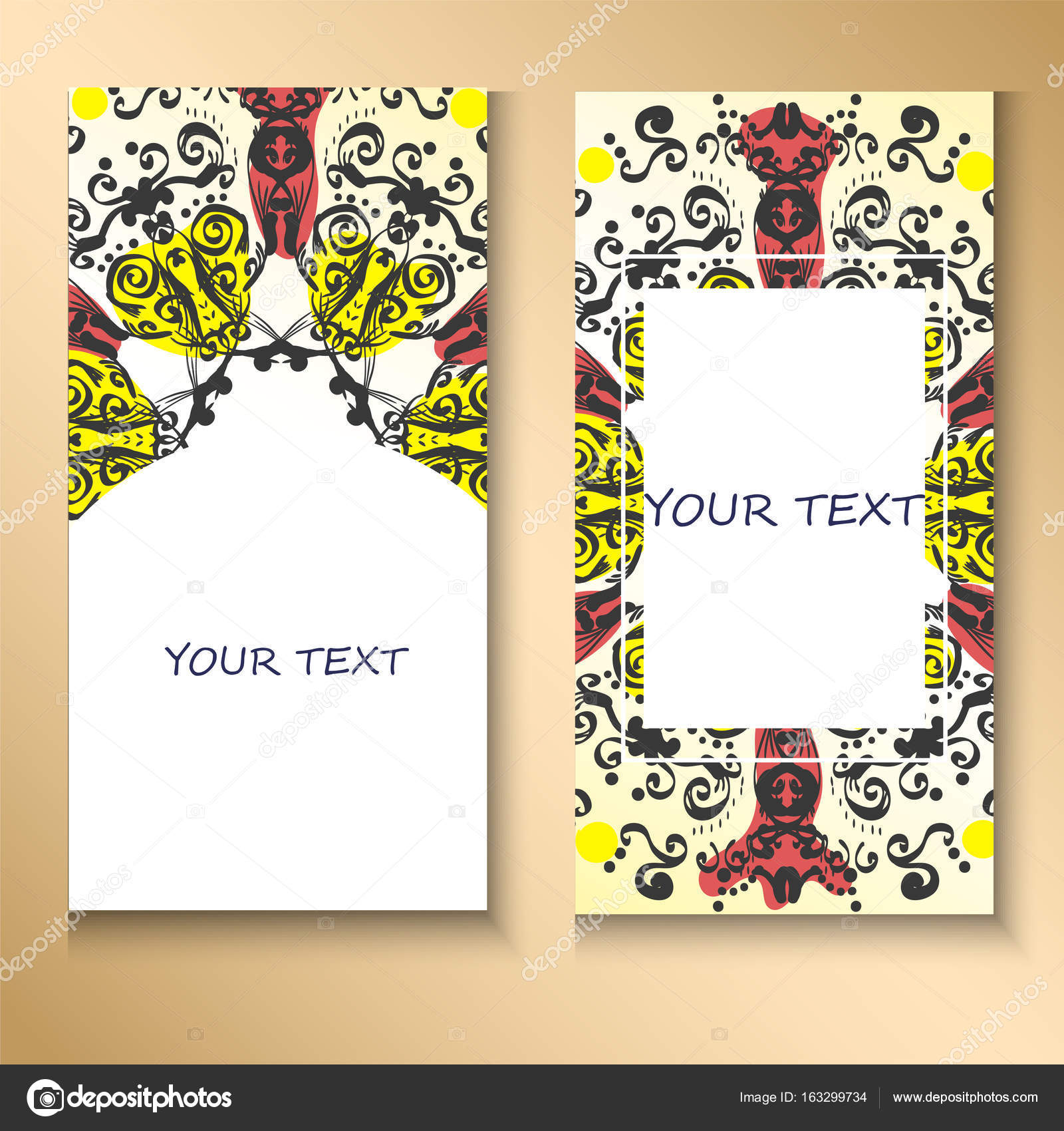 templates set. Business cards, invitations and banners. Floral ...