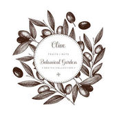 Photo Olive branch wreath   template
