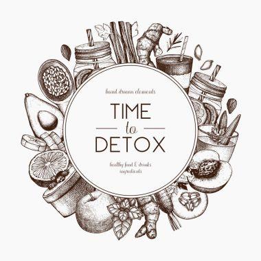 Detox diet frame design.
