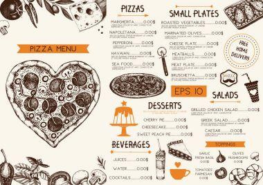 Vintage menu design for cafe or restaurant.