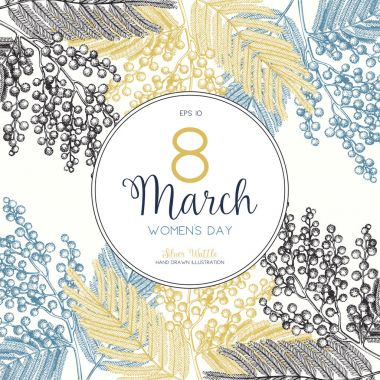 Women's Day greeting card or invitation design.