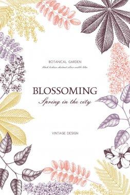 Vintage floral template