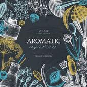 Fotografie Aromatic and medicinal plant design.