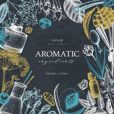 "Картина, постер, плакат, фотообои ""Дизайн ароматических и лекарственных растений."", артикул 148603967"