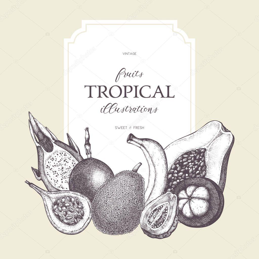 tropical fruits design
