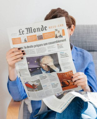 Le Monde newspaper about Vladimir Putin russian president