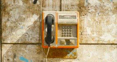 public phone in Bucharest