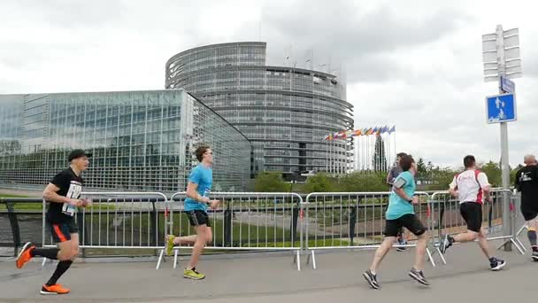 Marathon competition in front of the European Parliament