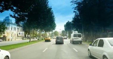 heavy traffic in daily Bucharest