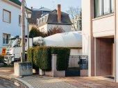 Míchačka na cement Liebherr a Volvo Fmx náklaďák pracovní vyložení ceme