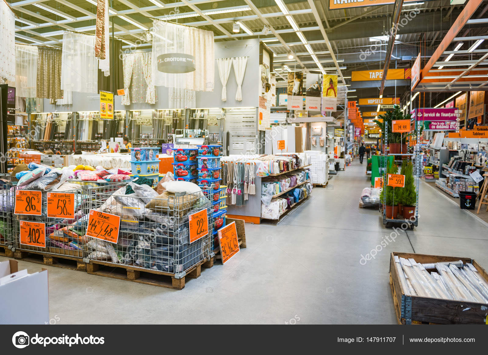 Diy store with diverse products stock editorial photo ifeelstock bucharest romania apr 1 2016 interior of hornbach the german diy store chain offering home improvement and do it yourself goods diverse pillows solutioingenieria