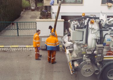 Team working on street