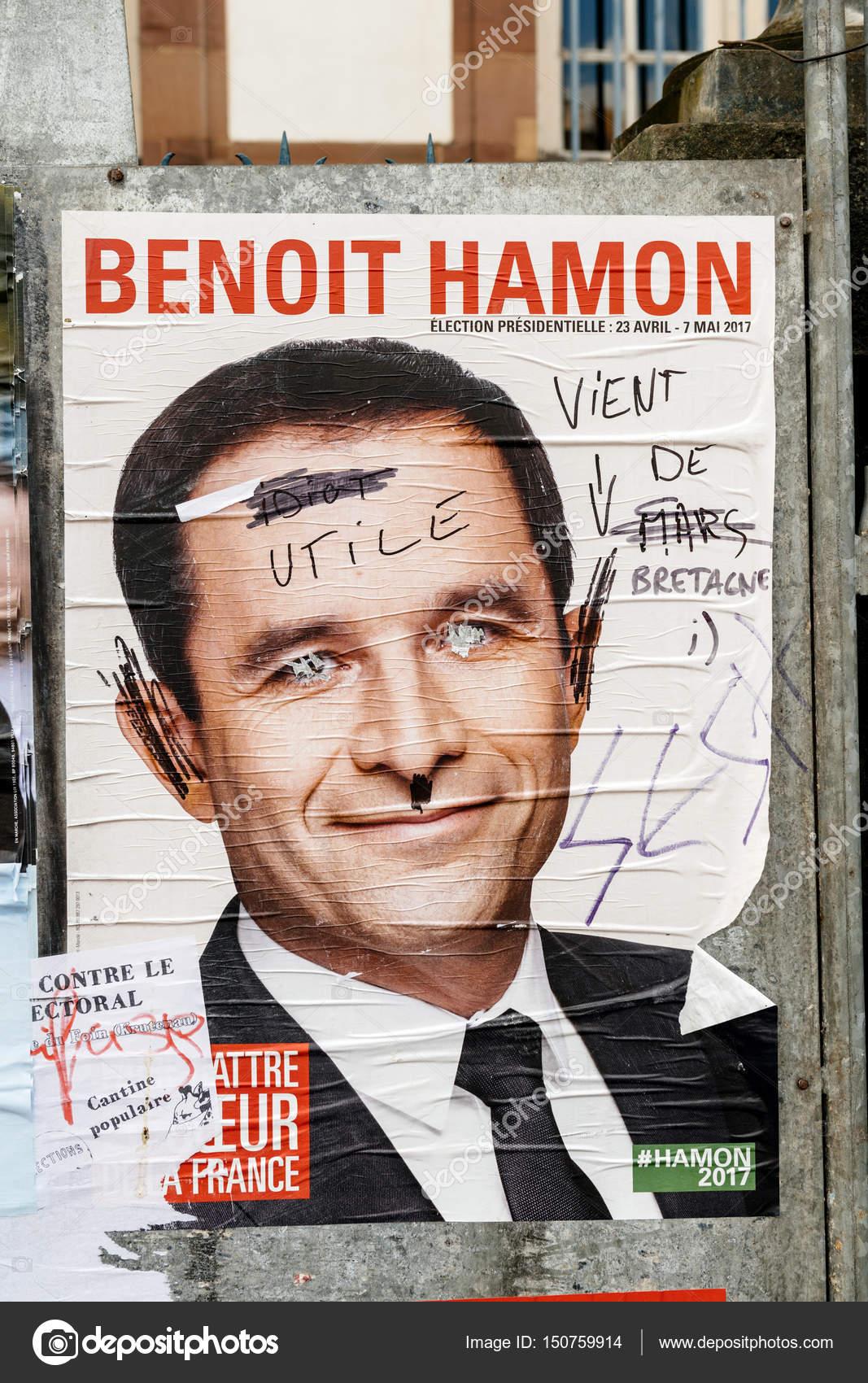 Benoit Hamon Francuski Prezydenckich Plakaty Kampanii