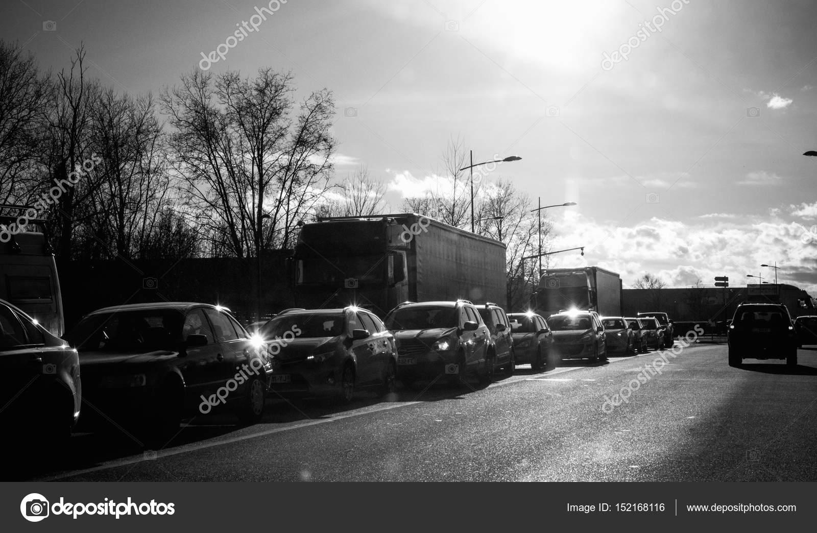 Black White Photo Cars Traffic Street Background Stock Editorial Photo C Ifeelstock 152168116