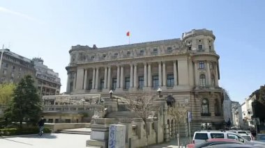 impressive military building in central Bucharest