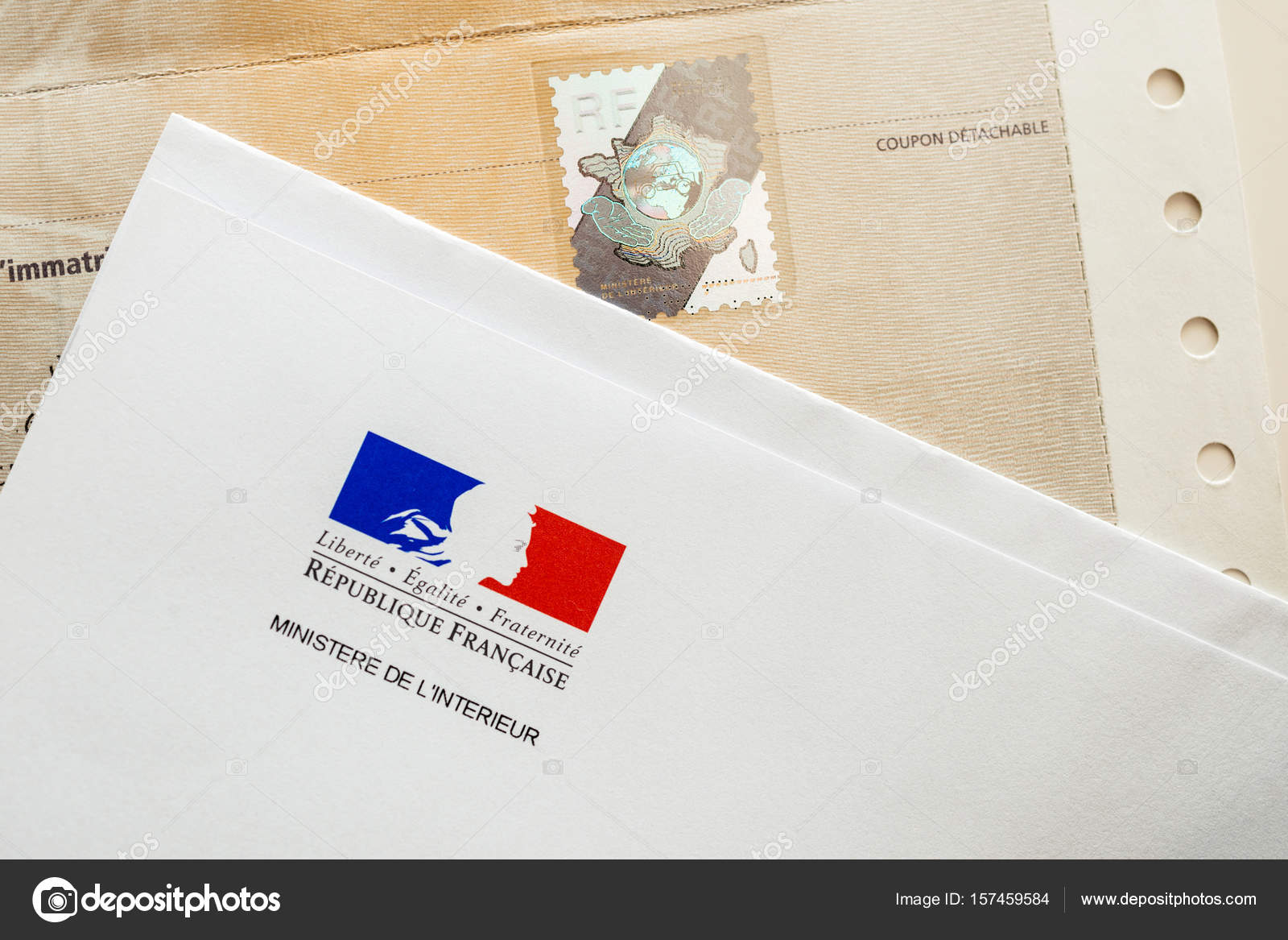 Special postal envelope of with the logo of The Ministry of the ...