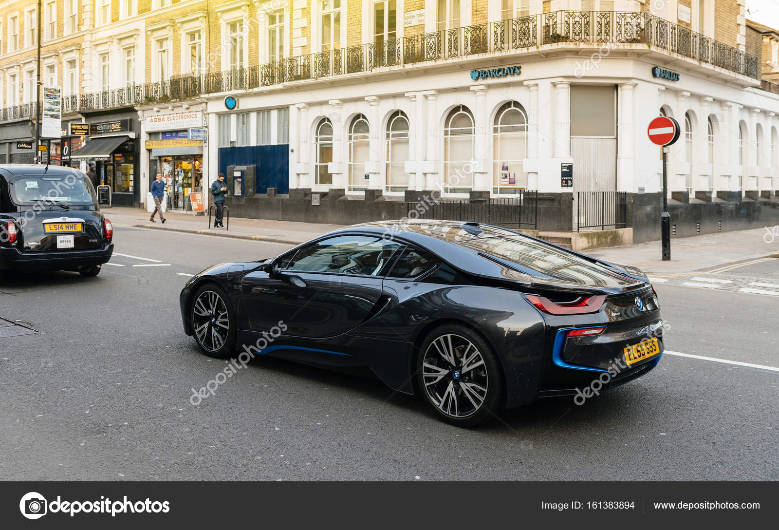 Bmw I8 On London Street Luxury Expensive Coupe Car Stock Editorial