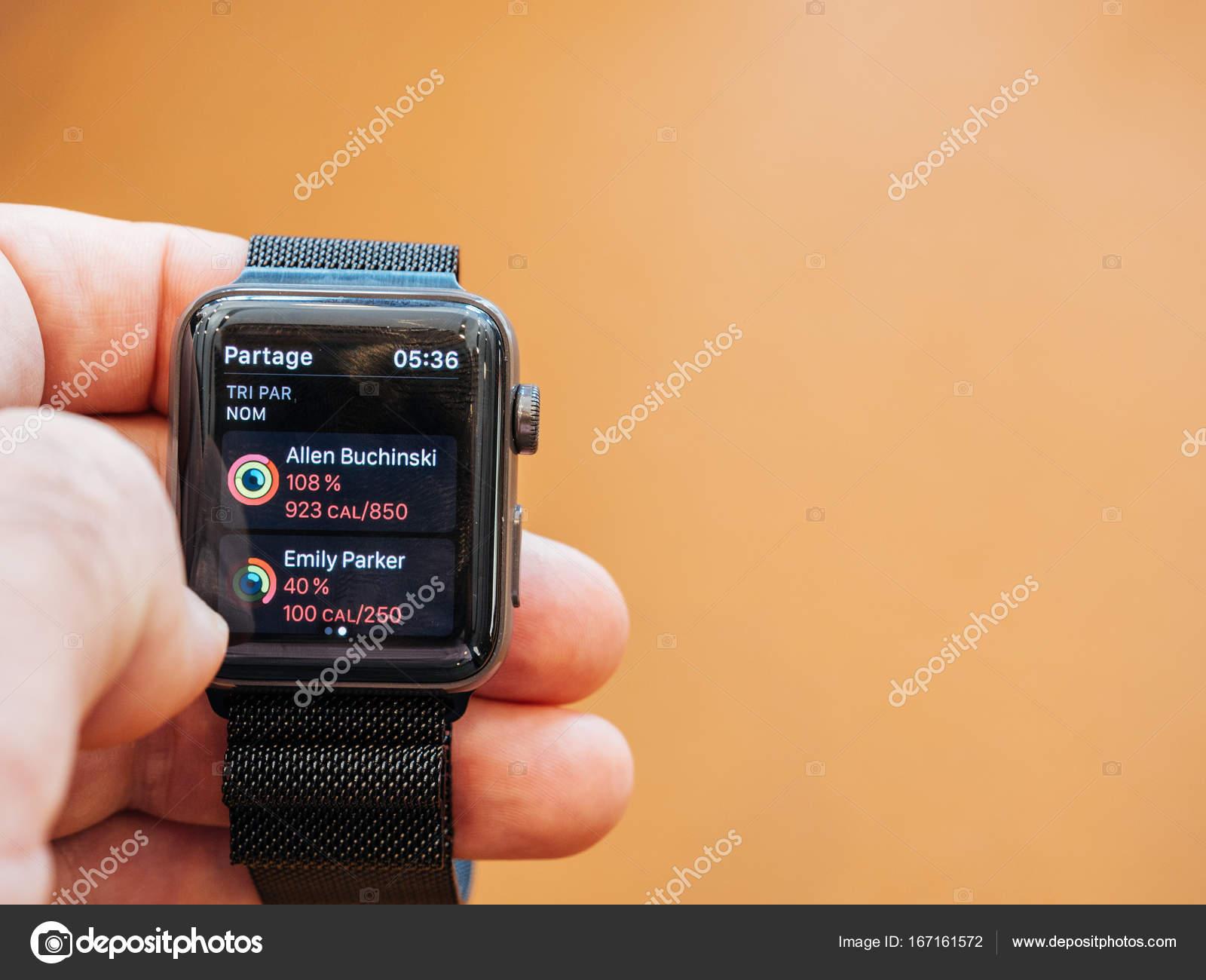 共有アプリ新しい apple watch シリーズ 3 ストック編集用写真
