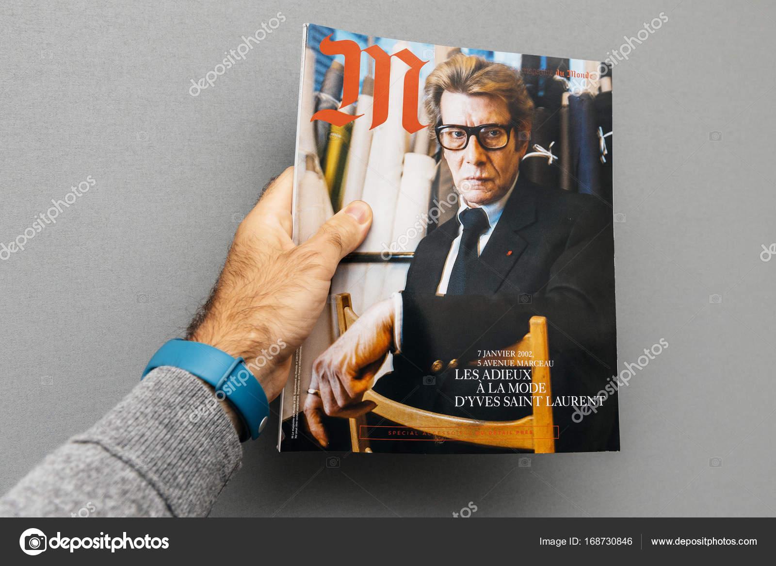 f3555d2d3d Yves Saint laurent na obálce časopisu - Stock Editorial Foto ...