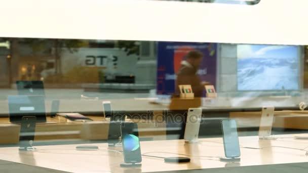 Apple IPhone X In Apple Store U2014 Stock Video