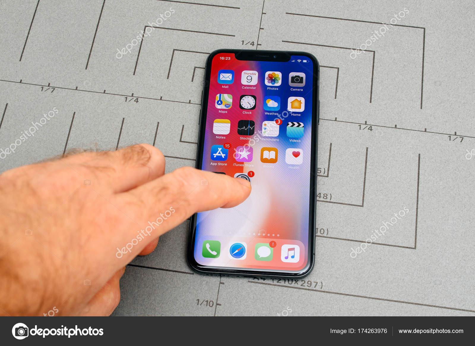 Configurar Na Tela Inicial De Software Iphone X10 De
