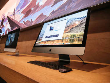 Side view of the latest Apple iMac Pro professional workstation