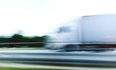Truck in motion defocused security safety concept
