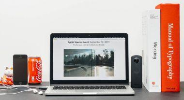 Steve Jobs Theater on the Apple MacBook Pro Laptop