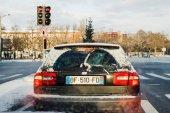 Přeprava jedle v autě kufru Volvo v40 dieselové auto