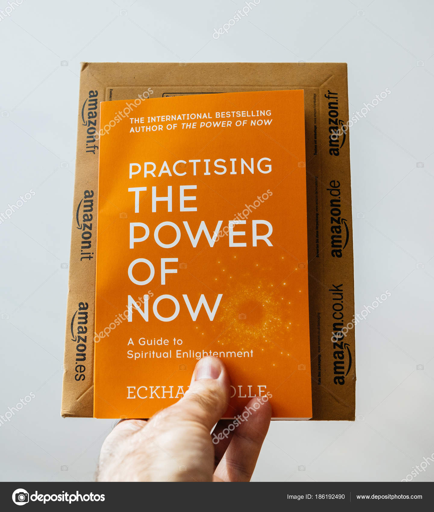 Book Of Eckhart Tolle Practising The Power Of Now Stock