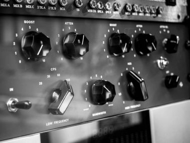 Knobs and dials recording equipment