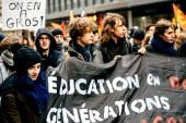 Protest proti Macron francouzská vláda sérii reforem