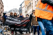 Protest Macron French government string of reforms