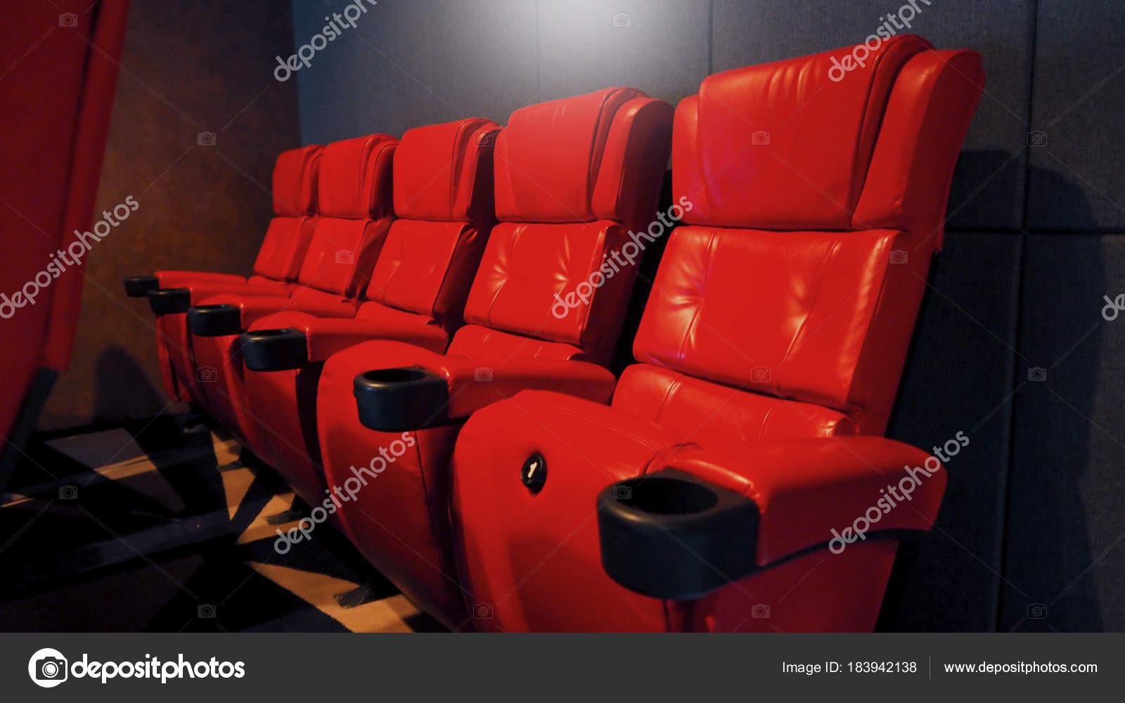 Rode Fauteuil Leer.Leer Kleur Stoel Rode Stockfoto Bioscoop Stoelen Cinema Tdsrhq