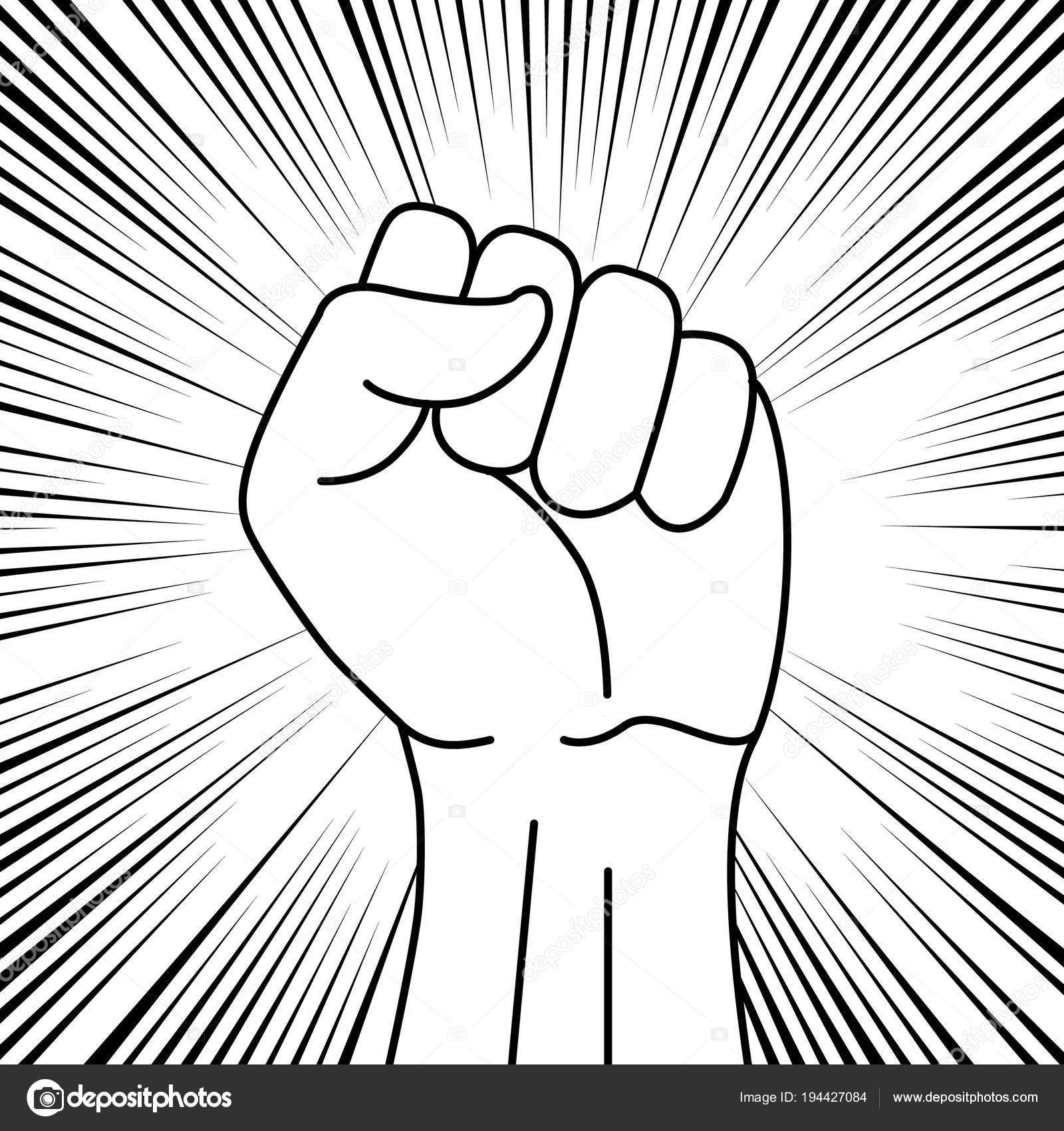 Protest Symbol Zeichen Der Kraft Stockvektor Grebeshkovmaxim