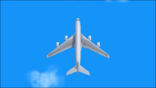 Letoun letí mraky na modré obloze skrze slunce a mraky za denního světla, letadlo, letadlo. letní cestovní koncept