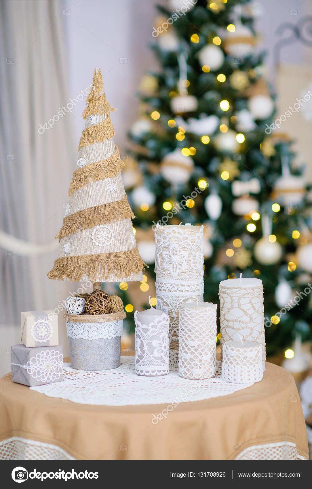 Ręcznie Robione Dekoracje świąteczny Dom Zdjęcie Stockowe