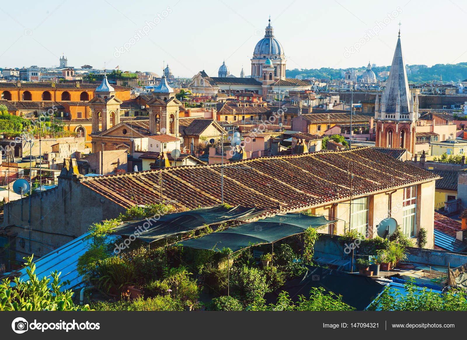 Roma Desde La Terraza De Pincio Foto De Stock