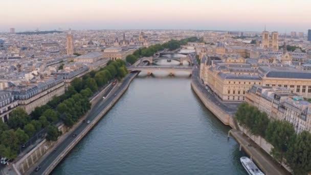 Paříž letecké západu řeka Seina