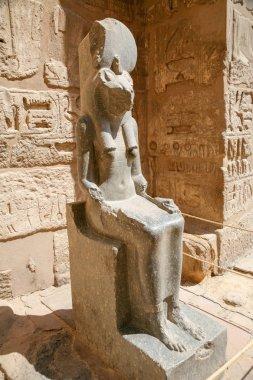 sculpture of Sekhmet goddess sitting