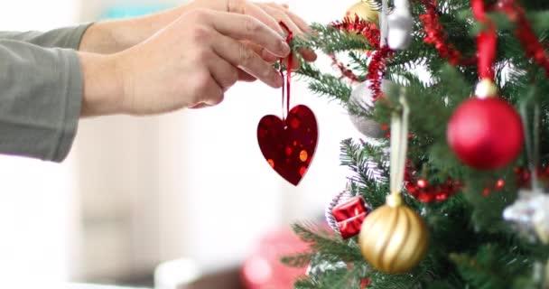 brilantní srdce v vánoční stromeček