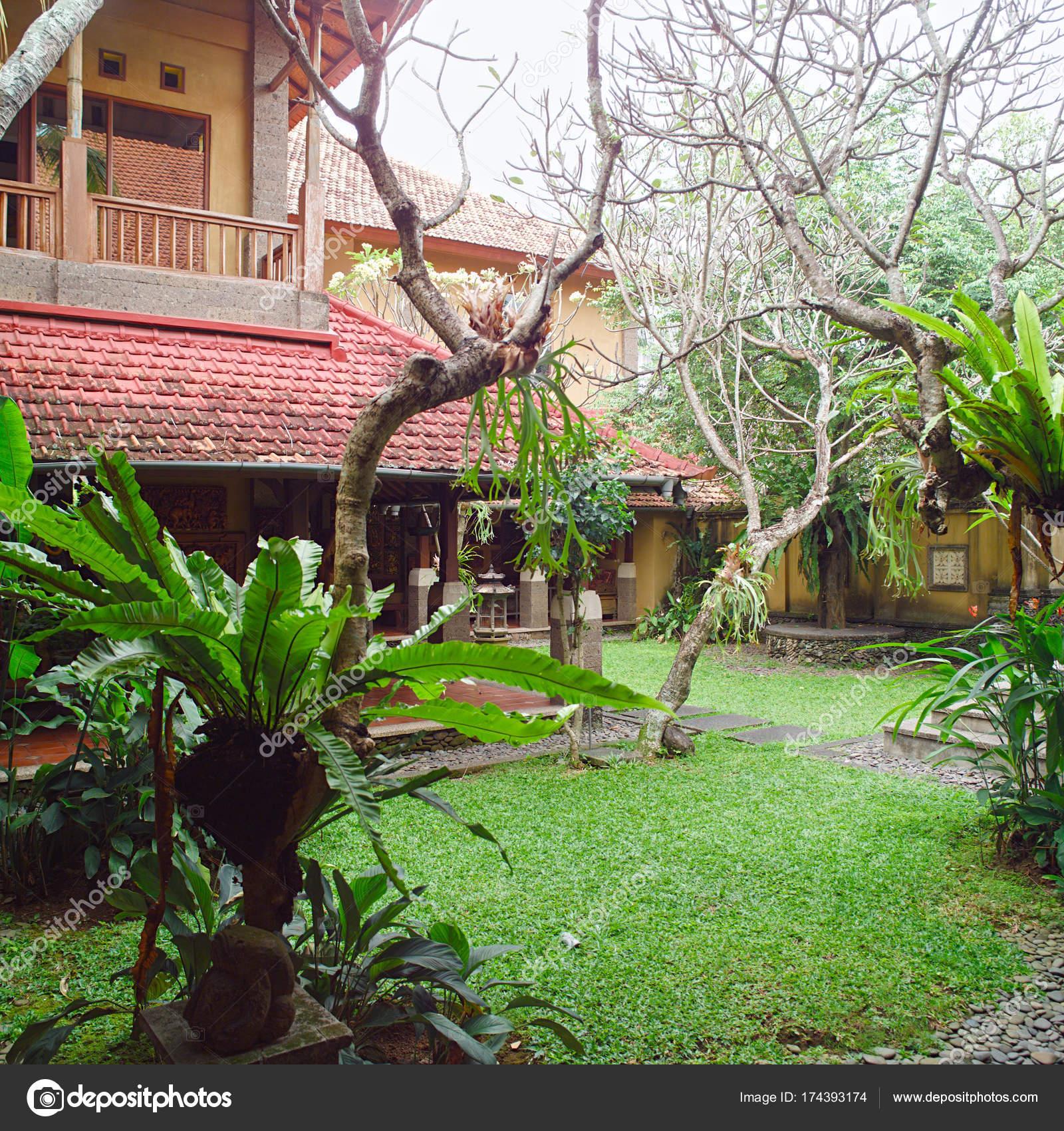 Balinese Backyard Designs balinese backyard gardening design — stock photo © gromaler #174393174