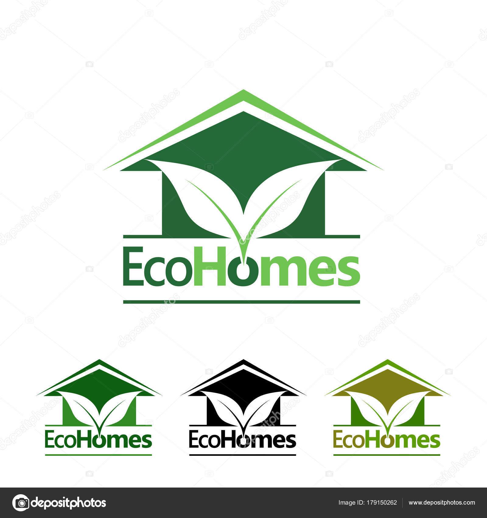 eco homes logo design concept — Stock Vector © oriu007 #179150262