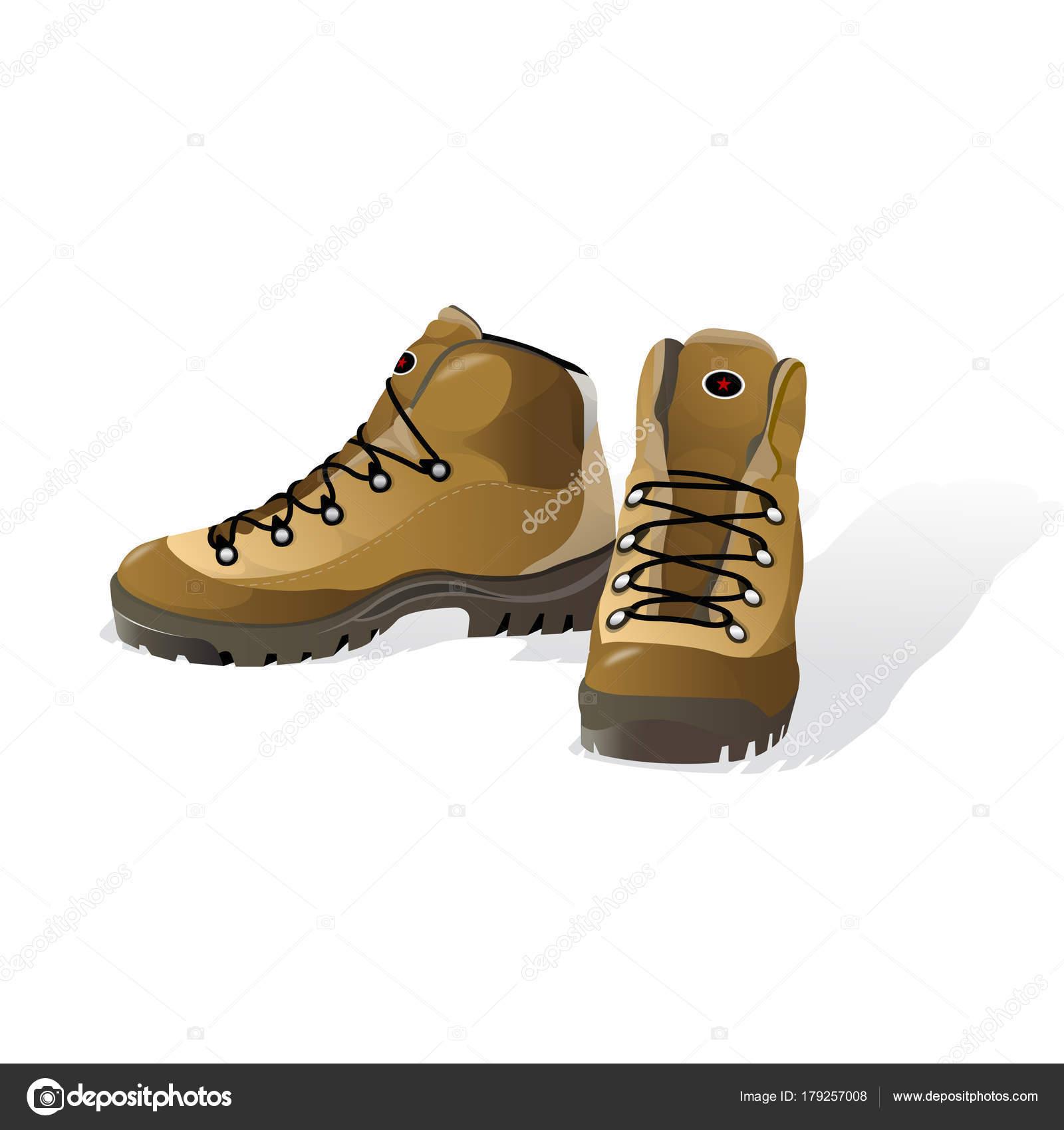 f4c13aa2ed3 Πεζοπορία παπούτσια, ορειβατικά μποτάκια, εικονογράφηση διάνυσμα ...