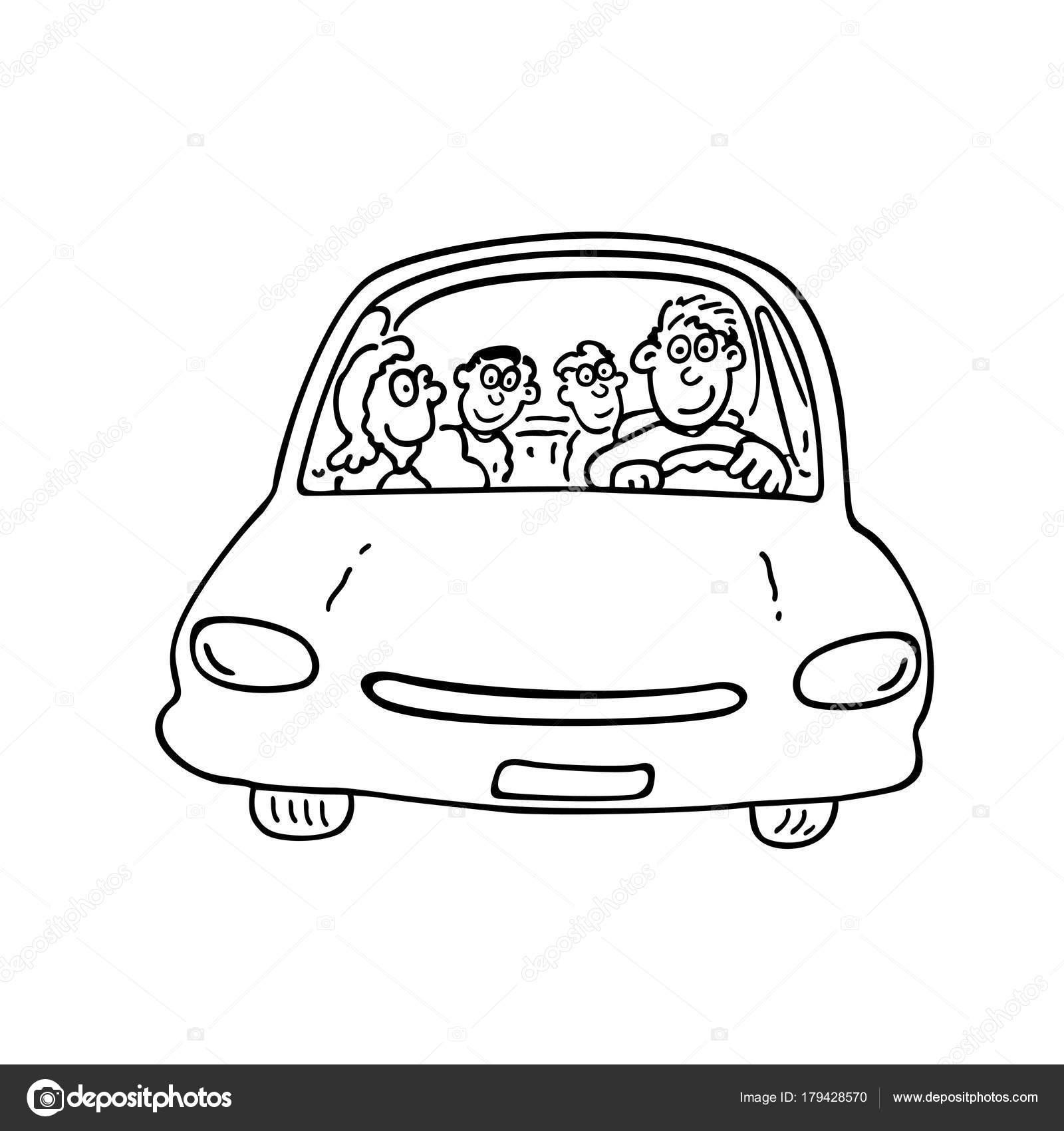 Dibujos Para Colorear Pistas De Autos La Familia En El